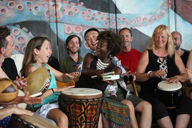 The Drum Circle Moves Beyond Deadheads and Occupy Protesters