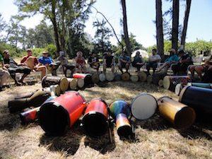 Drums in circle